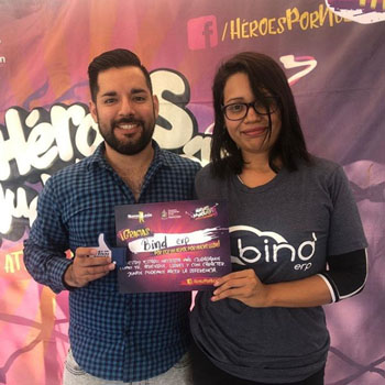Binders participando en Héroes por Nuevo León