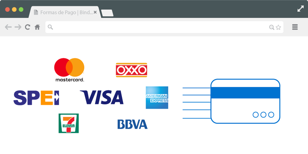 Métodos de pago disponibles con PayU y Bind ERP
