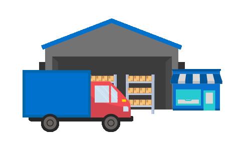 Camioneta transfiriendo inventarios